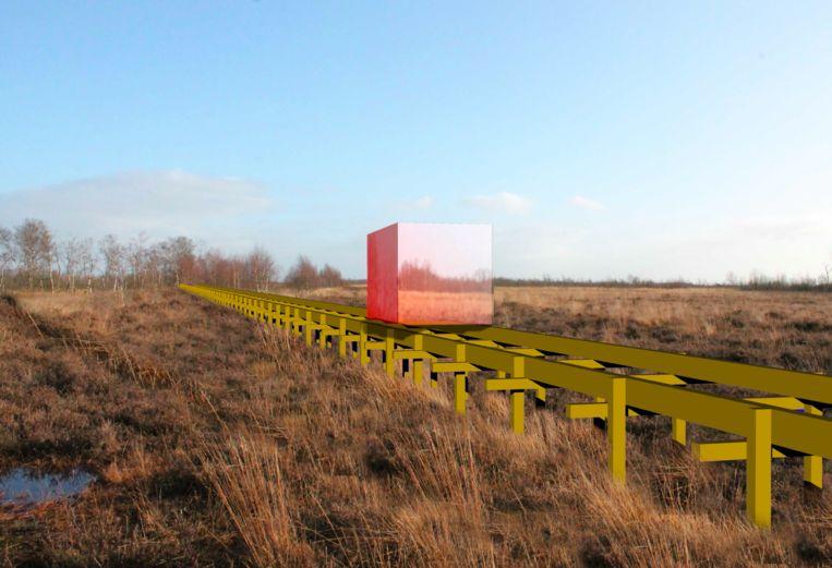 De 'Slow Train' van HeHe (Hellen Evans en Heiko Hansen), bij Into Nature. Beeld Into Nature