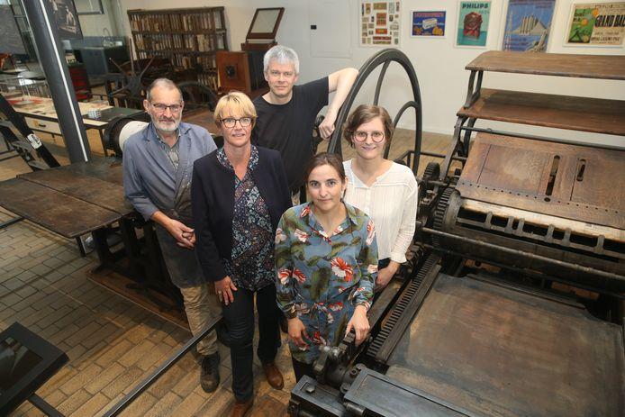 Het team van het Industriemuseum:  Arnould Poelman, Ann Van Nieuwenhuyse, Erik Desmyter, Hilde Langeraert en Marie Kympers.