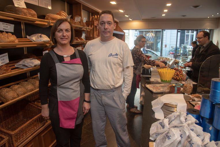 Claudine en Bart in bakkerij Bracke in Wetteren.
