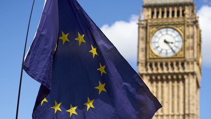Een EU-vlag voor de Big Ben in Londen