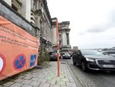 Des Bruxellois contestent la suppression du parking des rampes du palais de justice