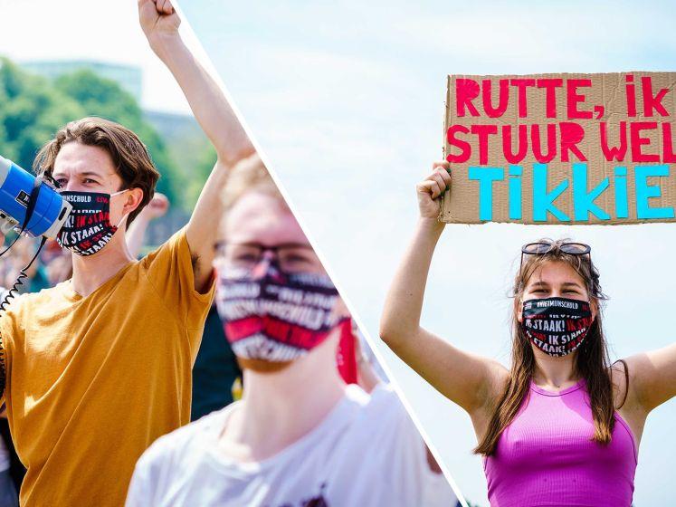 Jongerenorganisaties protesteren tijdens Prinsjesdag tegen leenstelsel