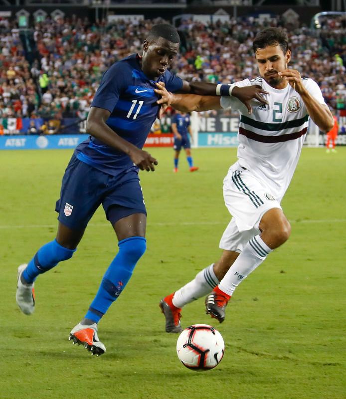 Timothy Weah speelde afgelopen nacht met Team USA tegen Mexico.