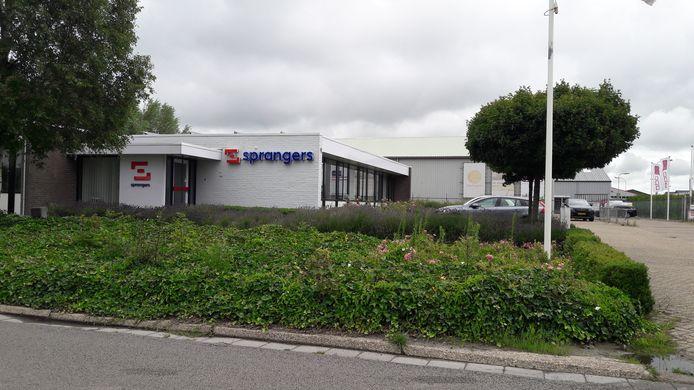 Vestiging van bouwbedrijf Sprangers aan de Haarmanweg in Terneuzen.
