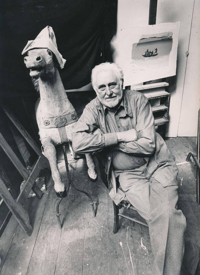 Kunstenaar Wally Elenbaas zat in de oorlog met zijn joodse vrouw ondergedoken in Belvédère.