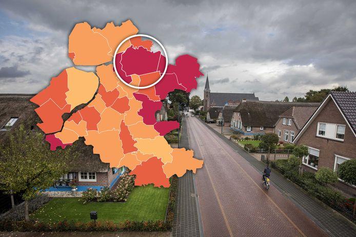Staphorst heeft de laatste tijd te maken met veel besmettingen.
