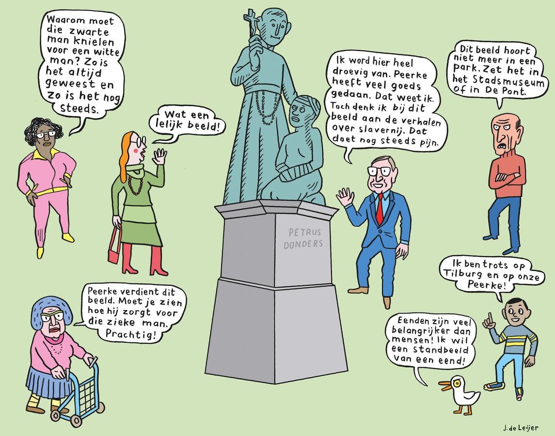 Het standbeeld van Peerke Donders roept veel meningen op.