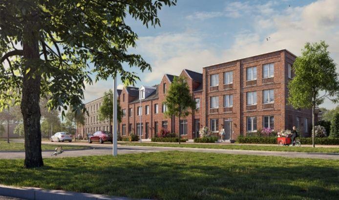 De woningen in nieuwbouwproject Laakse Tuinen in Vathorst.