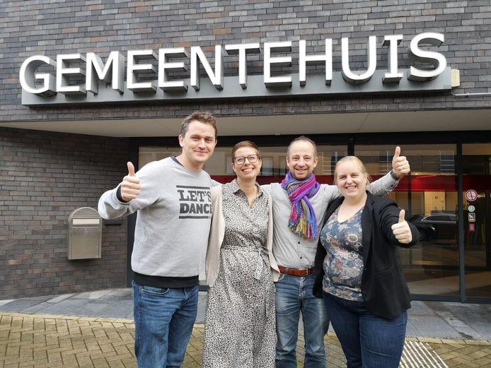 Ouders Valentijn Vergote (Dijkstein), Julie De Weerdt (Octopus), Tom Bosmans (Dijkstein) en Myriam Reniers (Dijkstein).
