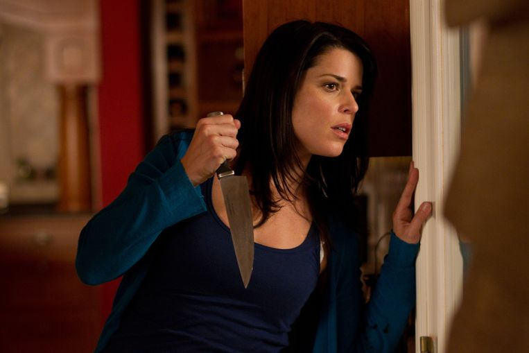 Neve Campbell in 'Scream 4'. Beeld AP