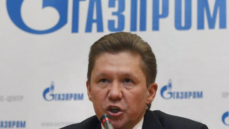 Gazprom-topman Alexey Miller. Beeld epa
