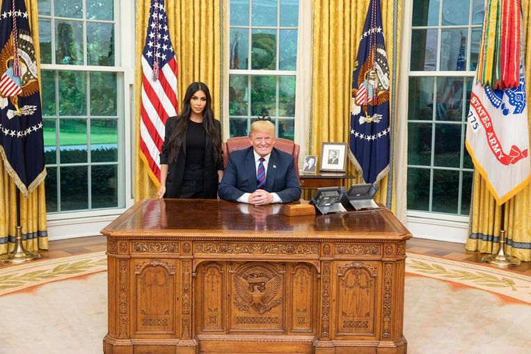 Kim Kardashian met Donald Trump.