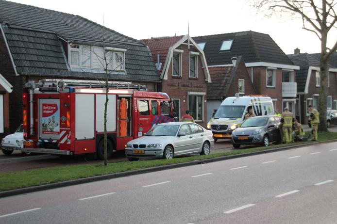 Hulpdiensten zijn betrokken bij het dronken katje in Rijssen.