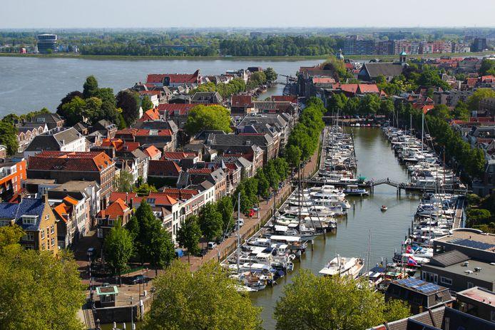 De haven van Dordrecht