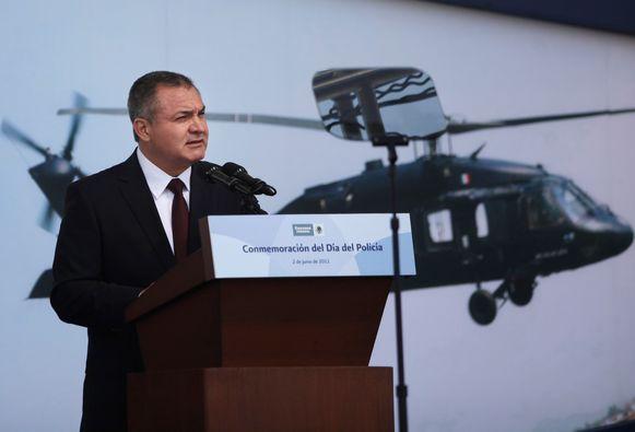 Genaro Garcia Luna  als Mexicaans minister van Openbare Veiligheid, foto uit 2011.