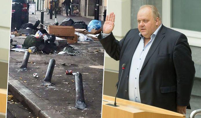 Vlaams parlementslid en Vlaams Belang-kopstuk Guy D'haeseleer deelde bovenstaande foto van afval met een merkwaardig bijschrift.
