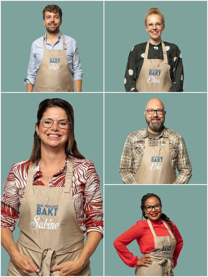 Thijs, Ellen, Sabine, Eric en Elizabeth.
