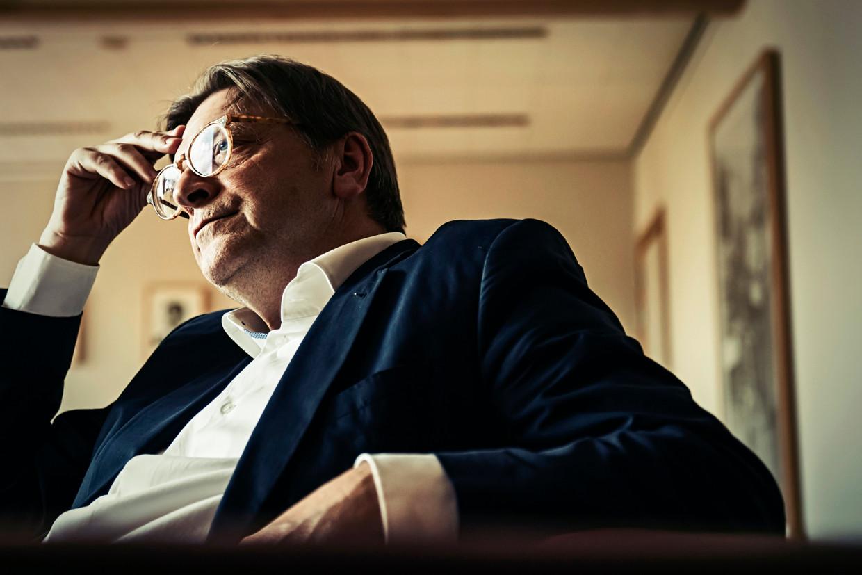 Europees Parlementslid Guy Verhofstadt. Beeld Geert Van de Velde