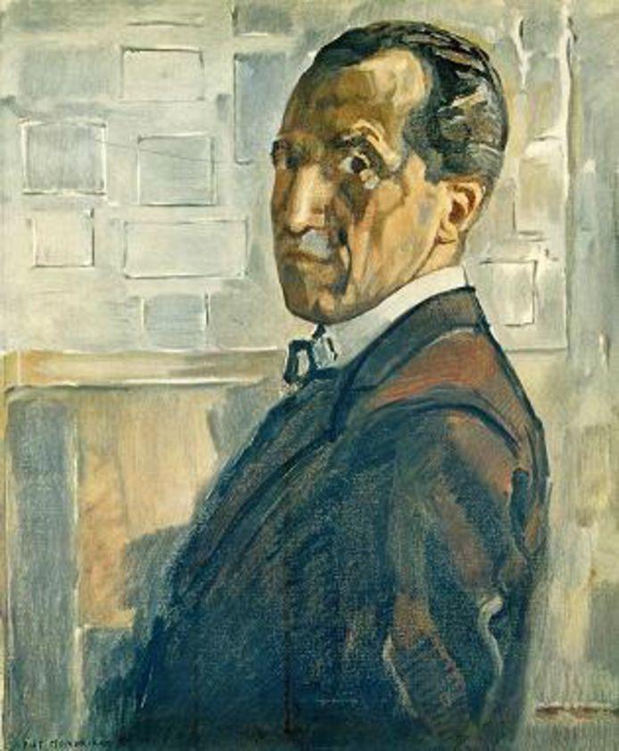 Zelfportret Piet Mondriaan, waarschijnlijk uit 1919.