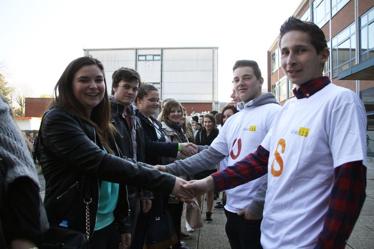 De leerlingen van de campus Wolstraat kregen een warm welkom op de campus in de Scheppersstraat.