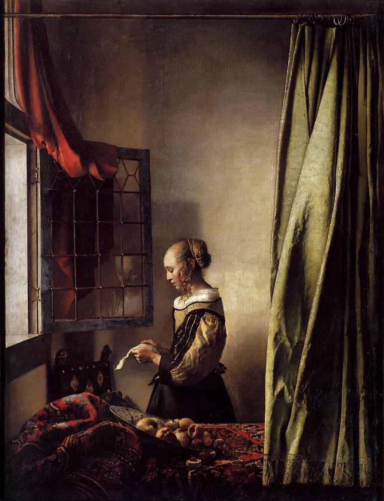 'Ik bekijk 'Brieflezend meisje bij het venster' op een abstract niveau van schoonheid.' Beeld Collectie Staatliche Gemäldegalerie, Dresden