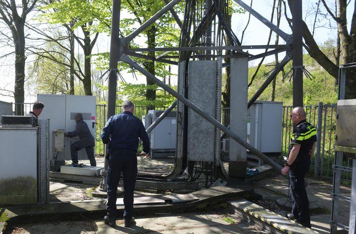 De politie onderzoekt de brand in Rijswijk