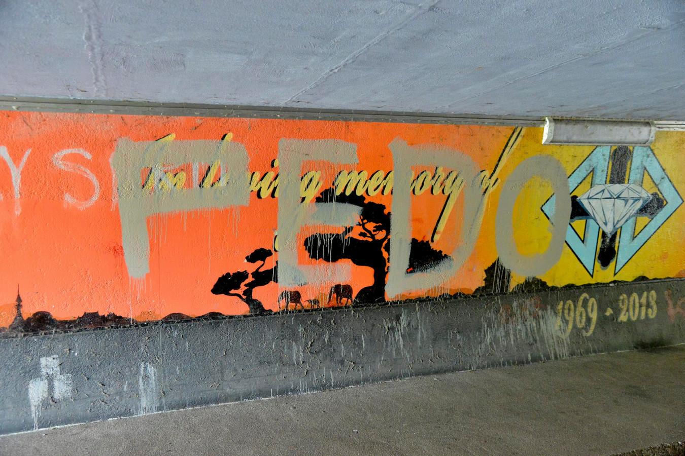 Het vandalisme op het kunstwerk van Dekkers in Breda.