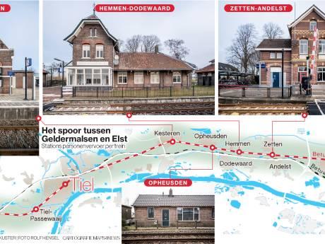 Wens om trein Arnhem-Elst-Tiel tot aan Geldermalsen door te trekken