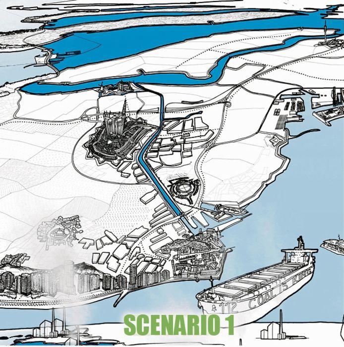Zeeland in 2134, scenario 1.