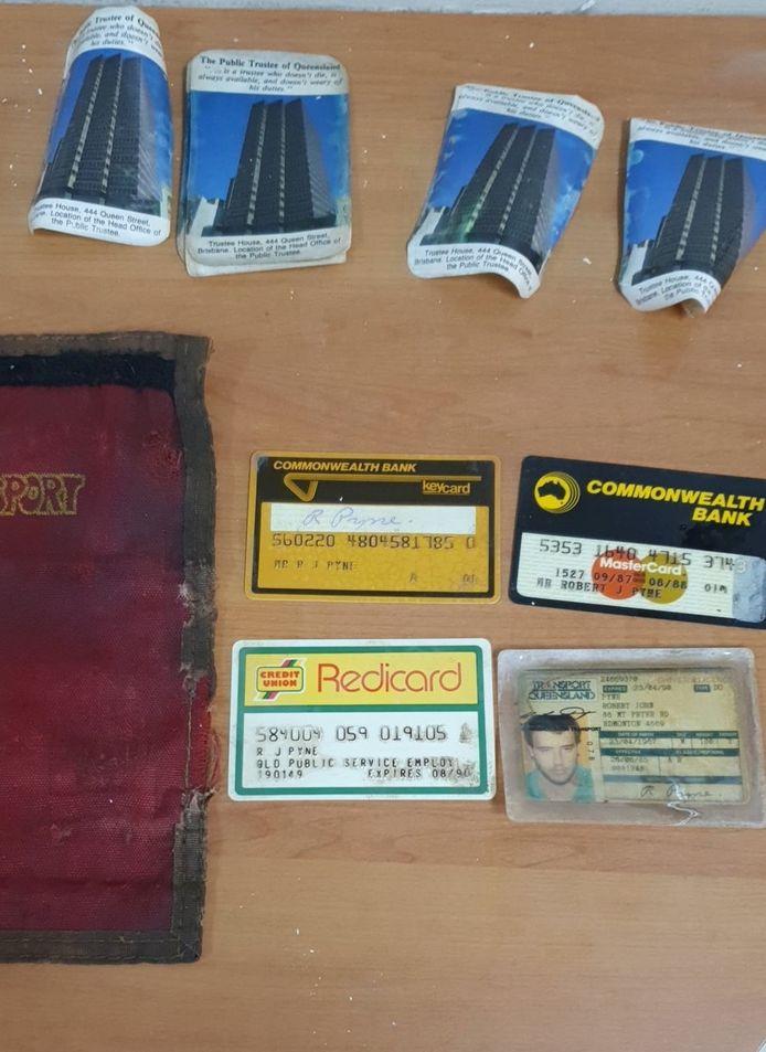 Rob Pyne vond zijn portefeuille van 30 jaar geleden terug.