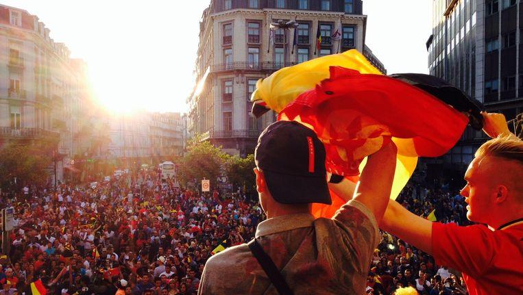 Mogen de Rode Duivels zich straks in Brussel aan dergelijke taferelen verwachten? Beeld BELGA