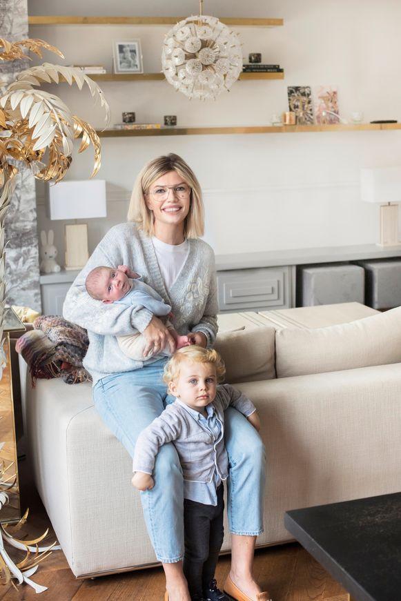 Valerie met dochter Alexis en zoon Christian.