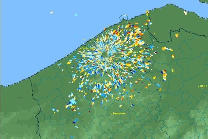 Animaties van radarbeelden tonen de enorme impact van het vuurwerk op vogels.