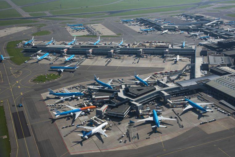 Luchtfoto van Schiphol Centrum. Beeld ANP