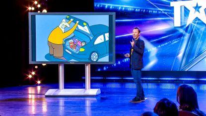 """Cartoonist Mario De Koninck (AAaRGh) in eerste aflevering Belgium's Got Talent: """"Ik probeer echt niet àltijd de plezante uit te hangen"""""""