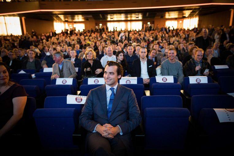Fractieleider Thierry Baudet op het partijcongres van Forum voor Democratie, 25 november. Beeld ANP