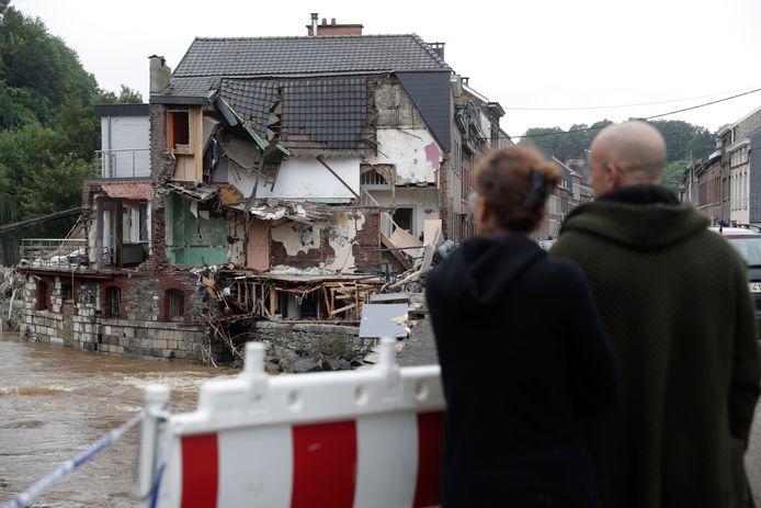 Vooral Verviers is zwaar getroffen door de hevige regenval en zondvloed die daarop volgde.