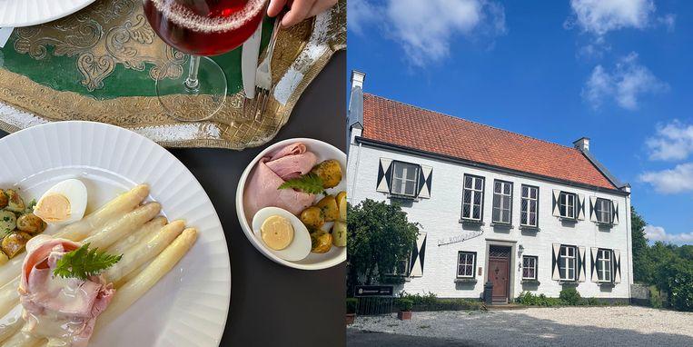Camperdiner bij Restaurant Hoeve de Boogaard in Limburg. Beeld Privébeeld