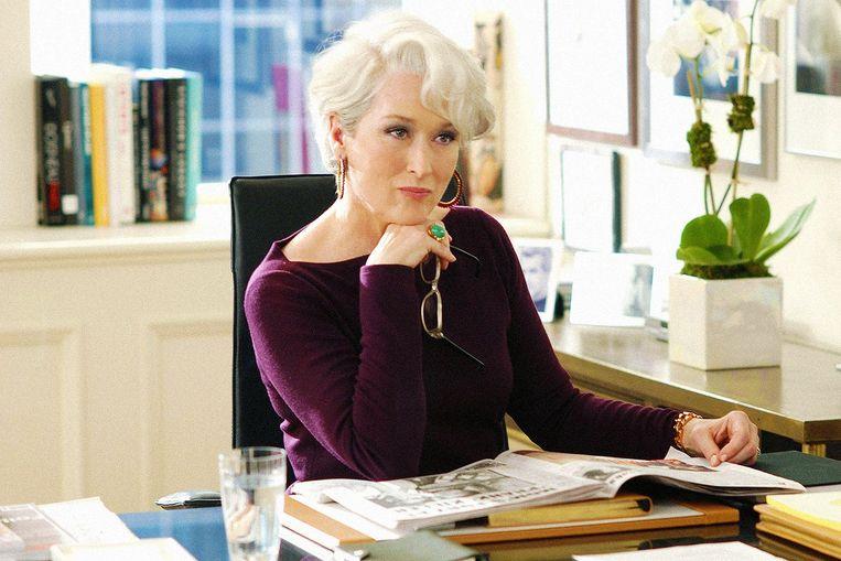 Meryl Streep als hoofdredacteur Miranda Priestley in 'The Devil Wears Prada'. Beeld