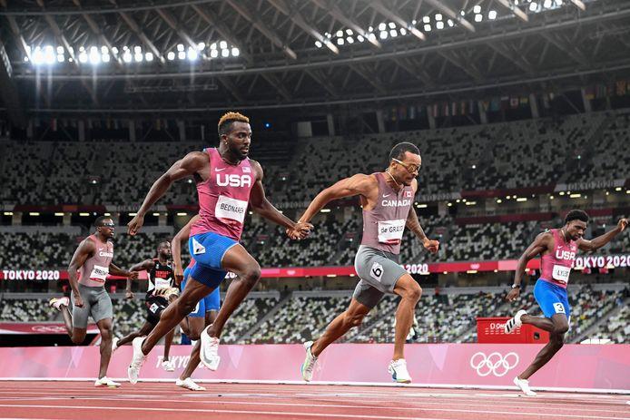 Andre De Grasse wint de 200 meter.