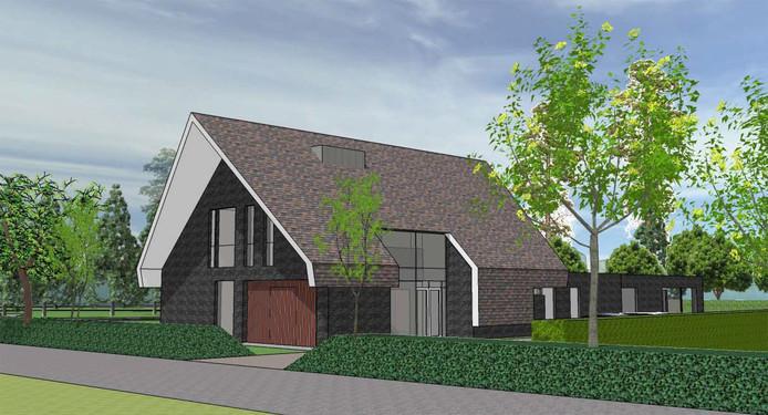 Een voorbeeld van een van de ontwerpen die in de afgelopen jaren zijn gemaakt voor een nieuw hospice aan de Griseeweg in Epe.