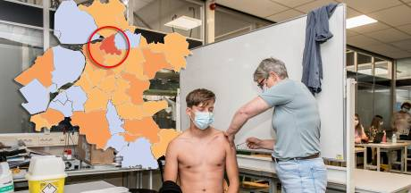 KAART | Dalende cijfers in Gelderland, in één Overijsselse gemeente juist flink meer nieuwe besmettingen