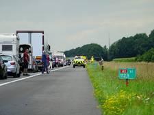 A1 bij Bathmen weer open na ernstig ongeluk