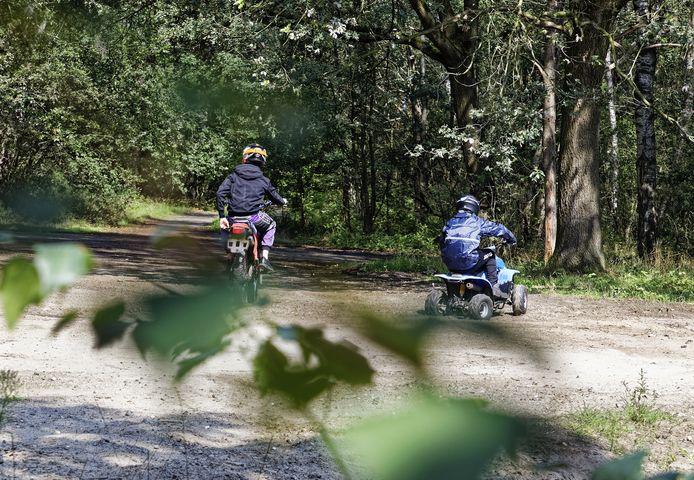 Wildcrossers zijn geregeld te vinden op het voormalige munitiedepot zuid in de Vlagheide bij Eerde en Schijndel.