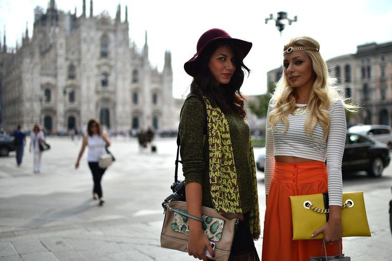 Stad: Milaan.'Ik zou nergens anders kunnen wonen. Overal ben je omringd door cultuur en design.' Beeld Gabriel Bouys / Getty
