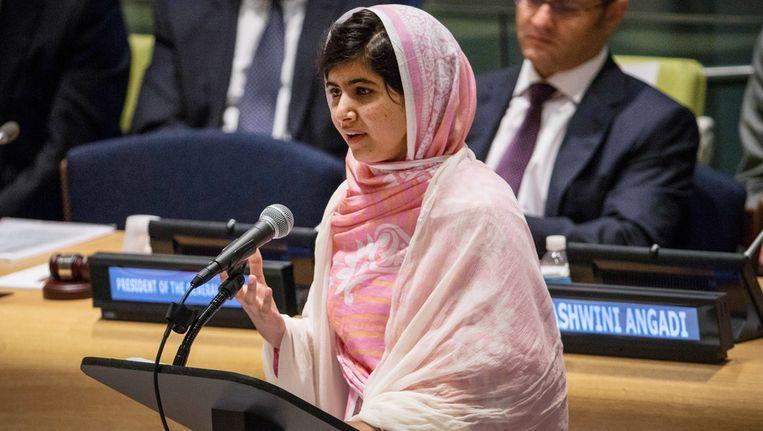 Malala vandaag bij de Verenigde Naties in New York. Beeld getty