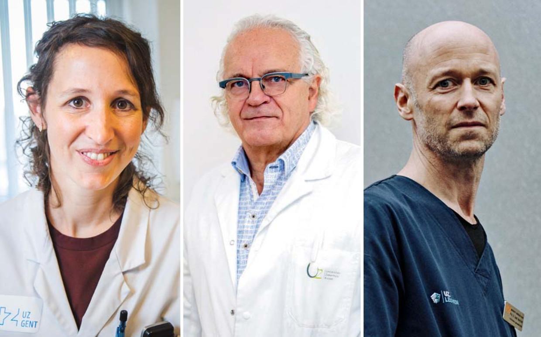 Eva Van Braeckel, Marc Noppen en Geert Meyfroidt. Beeld Wannes Nimmegeers/Belga/Thomas Sweertvaegher