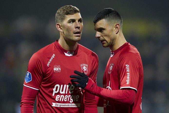De twee spitsen van het voorbije seizoen, Emil Berggreen (links) en Haris Vuckic.