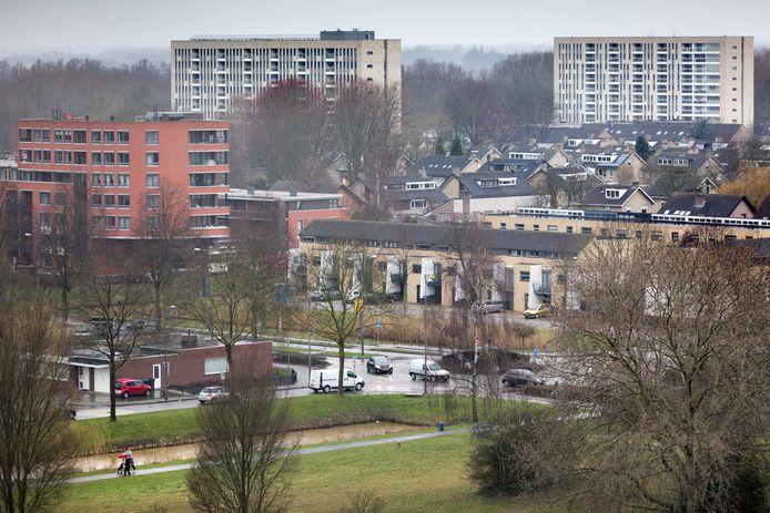 Een deel van de wijk De Kruiskamp. In deze wijk leven al plannen om zorg en wonen bij elkaar brengen.