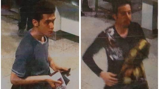 De man links is geïdentificeerd als de 19-jarige Iraniër Pouria Nour Mohammad Mehrdad.